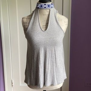 Tops - Keyhole Shirt with Beaded Collar